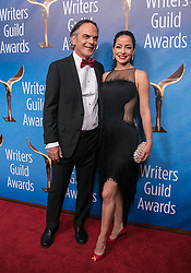 February 17, 2019 - Beverly Hills, California, U.S - Vince Calandra and Emmanuelle Vaugier  in the red carpet of the 2019 Writers Guild Awards at the Beverly Hilton Hotel on Sunday February 17, 2019 in Beverly Hills, California. JAVIER ROJAS/PI (Credit Image: © Prensa Internacional via ZUMA Wire)