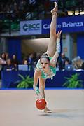 Carmen Crescenzi atleta della società Armonia D'Abruzzo durante la prova di Desio del Campionato Italiano di Ginnastica Ritmica.<br /> La gara si è svolta il 31 ottobre 2015.
