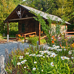 A cabin at Lost River Gorge in New Hampshire's White Mountains. North Woodstock.