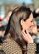 © Licensed to London News Pictures. 21/02/2012, Oxford, UK. The Duchess of Cambridge Kate Middleton arrives at Rose Hill Primary School in Oxford today 21 February 2012. Photo credit : Stephen Simpson/LNP