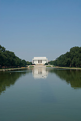 Washington DC; USA: The Reflecting Pool on the Mall, with the Lincoln Memorial in the background.Photo copyright Lee Foster Photo # 5-washdc83219.
