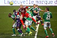 Stephane Ruffier - 28.02.2015 - Toulouse / Saint Etienne - 27eme journee de Ligue 1 -<br />Photo : Manuel Blondeau / Icon Sport