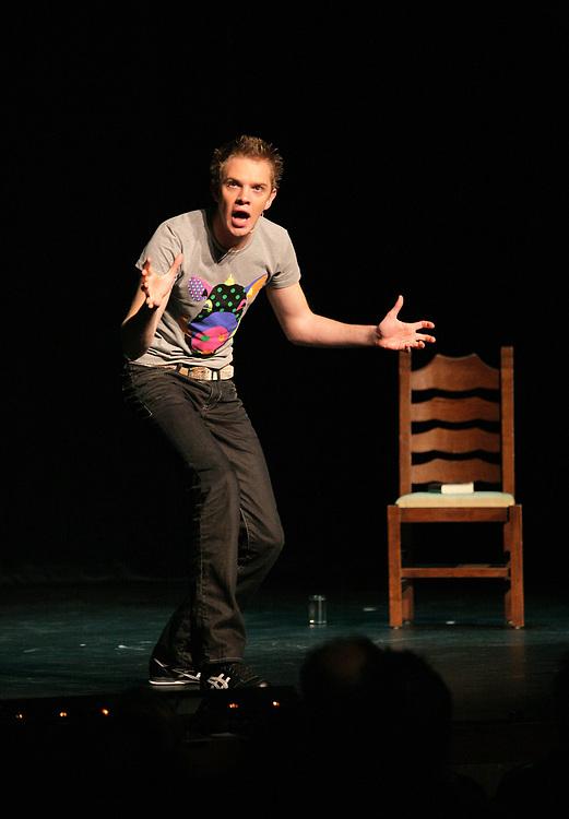 Winning performance of comedian Ronald Smink at the Groninger Studenten Cabaret Festival // Ronald Smink, winnaar van het 21e Groninger Studenten Cabaret Festival.