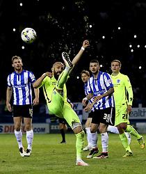 Bruno Saltor of Brighton & Hove Albion clears the ball - Mandatory by-line: Robbie Stephenson/JMP - 13/05/2016 - FOOTBALL - Hillsborough - Sheffield, England - Sheffield Wednesday v Brighton and Hove Albion - Sky Bet Championship Play-off Semi Final first leg