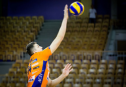 Ivan Mihalj of ACH during volleyball game between OK ACH Volley and OK Panvita Pomgrad in 1st final match of Slovenian National Championship 2013/14, on April 6, 2014 in Arena Tivoli, Ljubljana, Slovenia. Photo by Vid Ponikvar / Sportida