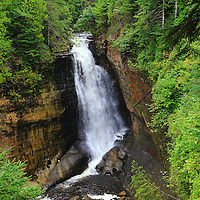 """""""Miners Falls"""" <br /> <br /> Scenic Miners Falls in Pictured Rocks National Lakeshore near Munising Michigan!!<br /> <br /> Waterfalls by Rachel Cohen"""