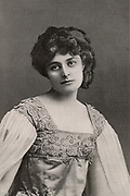 Maud Gonne (1865-1953), Mrs John MacBride, ardent Irish Nationalist and, from 1916, an active member of Sinn Fein. She was the dedicatee of many poems by William Butler Yeats who had wished to marry her.  Mother of Sean MacBride, Foreign Minister of the Republic of Ireland (1948-1951). Halftone after a photograph published in 1901.