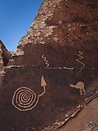 Petroglyphs, Puerco River, Puerco Pueblo, Petrified Forest, National Park, Arizona