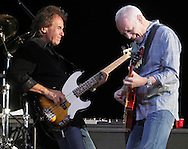 Peter Frampton, right, and John Regan perform at Bethel Woods Center for the Arts to open the venue's 2010 season on Friday, June 18, 2010.
