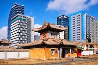 Mongolie, Oulan-Bator, monastere de Choijin Lama, centre ville // Mongolia, Ulan-Bator, Choijin Lama monastery in the city centre