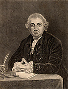 David Garrick (1717-1779) English actor-manager and dramatist. Copperplate engraving.