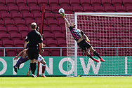 Bristol City's Daniel Bentley (1) saves spectacularly during the EFL Cup match between Bristol City and Exeter City at Ashton Gate, Bristol, England on 5 September 2020.