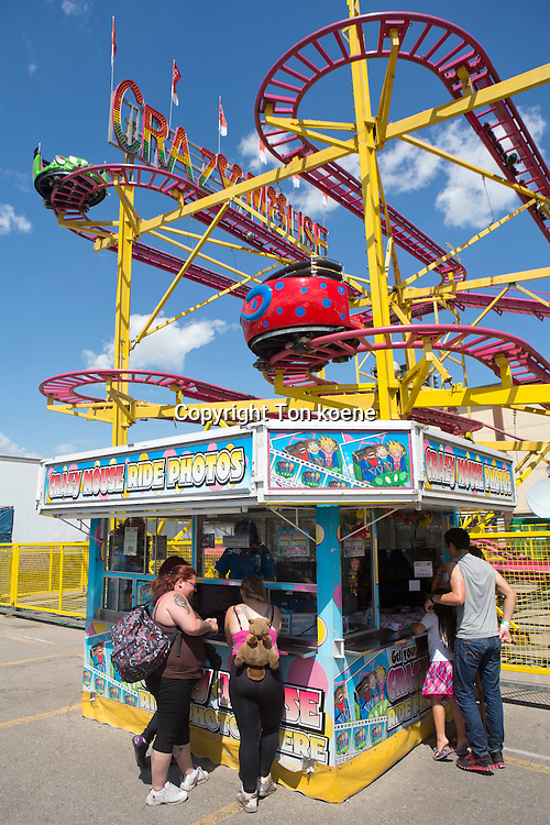 fairground at the stampede in Galgary