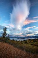 Feather cloud on Pillar Mountain, Kodiak, Alaska