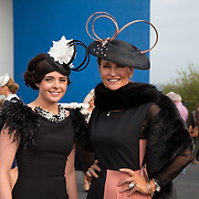 09.10.2016           <br /> Attend the Keanes Jewellers Best dressed competition at Limerick Racecourse were, designer Ailsing Maher and Celia Holman Lee. Picture: Alan Place