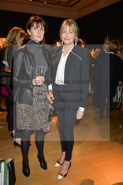 Left to right, CAROLYN HADDEN-PATON and the COUNTESS OF WOOLTON at a party to celebrate the publication of Interiors For Living by Joanna Wood held at Christie's. 8 King Street, St.James's, London on 2nd March 2015.