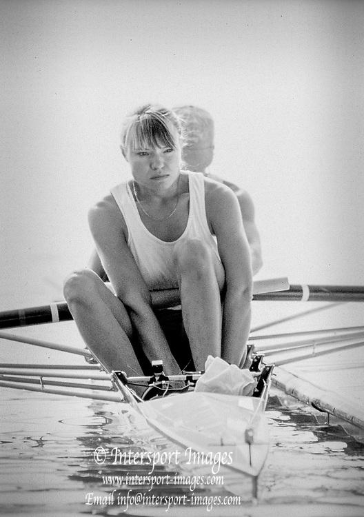 Barcelona Olympics 1992 - Lake Banyoles, SPAIN,  CAN W2- Kathleen Heddle, {Mandatory Credit: © Peter Spurrier/Intersport Images]