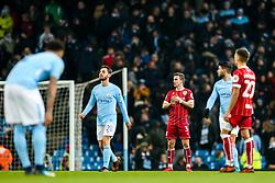 Joe Bryan of Bristol City looks dejected after Manchester City score in added time to win 2-1 - Rogan/JMP - 09/01/2018 - Etihad Stadium - Manchester, England - Manchester City v Bristol City - Carabao Cup Semi Final First Leg.