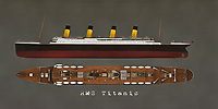 The RMS Titanic is a tale of grandeur and old-world class. It is also a story of greed and tragedy. All of these narratives continue to drive our fascination with one of the most iconic ships in human history. This ship never truly got to explore the world. For some, that is a tragedy unto itself. As fascinating as the story is the boat itself. The Titanic was the largest ship for its time, and its designers swore it would never sink. We all know it didn't work out that way. Available as t-shirts, wall art, or interior décor products. .<br />