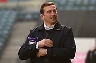 Gillingham  manager Justin Edinburgh before the EFL Sky Bet League 1 match between Gillingham and Milton Keynes Dons at the MEMS Priestfield Stadium, Gillingham, England on 17 December 2016. Photo by Martin Cole.