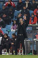 12.12.2012 SPAIN - Copa del Rey 12/13 Matchday 8th  match played between Atletico de Madrid vs Getafe C.F. (3-0) at Vicente Calderon stadium. The picture show Diego Pablo Simeone coach of Atletico de Madrid