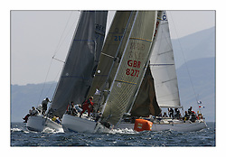 Bell Lawrie Scottish Series 2008. Fine North Easterly winds brought perfect racing conditions in this years event..Class 3 windward mark with GBR 8272 Enigma