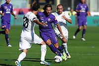 """Alessio CERCI (C) Fiorentina, Cristian BROCCHI (R) Lazio<br /> Firenze 02/10/2011 Stadio """"Artemio Franchi""""<br /> Football Calcio Serie A 2011/2012<br /> Fiorentina Vs Lazio<br /> Foto Insidefoto Andrea Staccioli"""