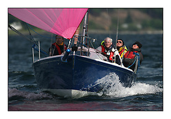 Sailing - The 2007 Bell Lawrie Scottish Series hosted by the Clyde Cruising Club, Tarbert, Loch Fyne..The final days racing had cold steady Northerly breeze to decide the overall placings...GBR800 Thistle & Rose FYC .J80.