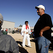 LAS VEGAS, NEVADA, November 12, 2007: Contestants from around the world gathered in Las Vegas, Nevada on November 12, 2007 to race their pigeons in the Las Vegas Classic. A event in Las Vegas isn't complete unless Elvis is there.
