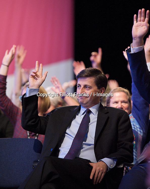 Andy Burnham during the Labour Party Annual Conference in Manchester, Great Britain, September 30, 2012. Photo by Elliott Franks / i-Images.
