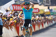 Omar Fraile (ESP - Astana Pro Team) during the 105th Tour de France 2018, Stage 14, Saint-Paul-trois-Chateaux - Mende (188 km) on July 21th, 2018 - Photo Luca Bettini / BettiniPhoto / ProSportsImages / DPPI