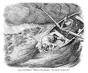 "Imperturbable Boatman. ""Haud up yer rod, man! Ye have 'm! Ye have 'm!"""