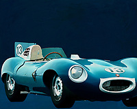 Jaguar Type D 1956 <br /> Like its predecessor Jaguar C-Type, the Jaguar D-Type is a factory-built racing car. The Jaguar D-Type had a straight-XK engine design. At the beginning it was a 3.4 engine, later also a 3.8, together with the C-Type a revolutionary car in terms of aerodynamics and monocoque chassis. The D-Type was produced purely for motorsport, but after Jaguar stopped building the car for motorsport, the company offered the unfinished chassis as the public-road version of the JaguarXKSS. These cars were given a number of modifications such as a passenger seat, a second door, a full windscreen and a roof. But on 12 February 1957 a fire broke out on Browns Lane plant. The fire destroyed nine of 25 cars that were already finished or almost finished. – -<br /> <br /> BUY THIS PRINT AT<br /> <br /> FINE ART AMERICA<br /> ENGLISH<br /> https://janke.pixels.com/featured/2-jaguar-type-d-1956-jan-keteleer.html<br /> <br /> WADM / OH MY PRINTS<br /> DUTCH / FRENCH / GERMAN<br /> https://www.werkaandemuur.nl/nl/shopwerk/Jaguar-Type-D-1956-Voorkant/571932/132