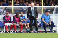Portsmouth manager Kenny Jackett looking onto pitch during the EFL Sky Bet League 1 match between AFC Wimbledon and Portsmouth at the Cherry Red Records Stadium, Kingston, England on 13 October 2018.