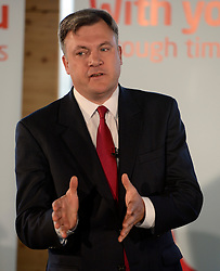 © Licensed to London News Pictures. 30/04/2012. London, UK . Ed Balls. Leader of the Opposition Ed Miliband and Shadow Chancellor Ed Balls Q&A session on economic policy and the UK's return to recession. Coin Street neighbourhood centre, London today. Photo credit : Stephen Simpson/LNP