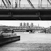 Madison Avenue Bridge And 145th Street Bridge, East River, New York City