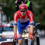 Tom du Moulin during the Eneco Tour 2016 at  at Breda, Breda, Holland on 20 September 2016. Photo by Gino Outheusden.<br /> <br /> Tom du Moulin