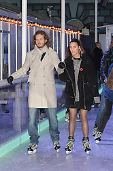 AMBER LE BON and DAN KAPP at Skate at Somerset House in association with Fortnum & Mason held on 10th November 2014.