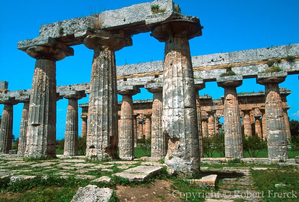 ITALY, GREEK CULTURE, Paestum; Basilica, Neptune Temple