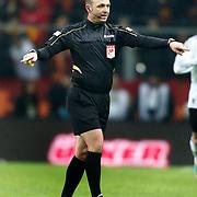 Referee's Tolga Ozkalfa during their Turkish superleague soccer derby match Galatasaray between Besiktas at the TT Arena at Seyrantepe in Istanbul Turkey on Sunday, 27 January 2013. Photo by Aykut AKICI/TURKPIX