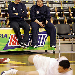 20051130: Basketball - Zmago Sagadin and Saso Filipovski in KK Union Olimpija