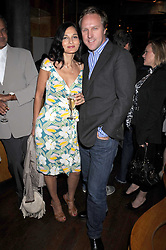 """SIMON & YASMIN MILLS at a party and exclusive private view of 'Naked Portrait With Reflection"""" by Lucian Freud hosted by Christie's held at 17 Berkeley Street, London on 17th June 2008.<br /><br />NON EXCLUSIVE - WORLD RIGHTS"""