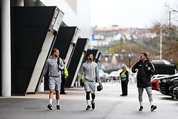 Tomas Kalas, Nahki Wells and Jack Hunt of Bristol City arrive - Rogan/JMP - 21/11/2020 - Ashton Gate Stadium - Bristol, England - Bristol City v Derby County - Sky Bet Championship.