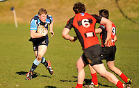 Castlebar's Shane Casey leading the charge against Monivea in the Junior Cup..Pic Conor McKeown