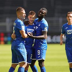 Jubel zum 0:4, um KRAMARIC, Hoffenheim<br /> <br /> firo, Sport: Fussball: 1. Bundesliga: Saison 2019/2020, 27.06.2020,34. Spieltag,<br /> BVB, Borussia Dortmund - TSG Hoffenheim<br /> <br /> Foto: Ralf Ibing / firosportphoto / POOL/PIX-Sportfotos<br /> <br /> Nur für journalistische Zwecke! Only for editorial use! <br /> <br /> <br /> Foto © PIX-Sportfotos *** Foto ist honorarpflichtig! *** Auf Anfrage in hoeherer Qualitaet/Aufloesung. Belegexemplar erbeten. Veroeffentlichung ausschliesslich fuer journalistisch-publizistische Zwecke. For editorial use only. DFL regulations prohibit any use of photographs as image sequences and/or quasi-video.