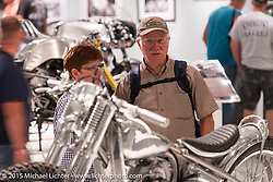 "Michael Lichter's Motorcycles as Art annual exhibition titled ""The Naked Truth"" at the Buffalo Chip Gallery during the 75th Annual Sturgis Black Hills Motorcycle Rally.  SD, USA.  August 4, 2015.  Photography ©2015 Michael Lichter."