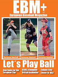 Melissa Mayeux (in the center), EUropean Baseball Magazine Cover, 2016.
