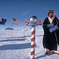 ANTARCTICA. Dr. Ibrahim Abdulhamid Alam, one of first Saudi Arabians to visit South Pole, as a sponsor to Will Steger's Trans-Antarctica Expedition.