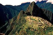 PERU, PREHISPANIC, INCA Machu Picchu; with Huayna Picchu