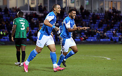 Nathan Thompson of Peterborough United celebrates scoring his goal making it 4-1 - Mandatory by-line: Joe Dent/JMP - 12/12/2020 - FOOTBALL - Weston Homes Stadium - Peterborough, England - Peterborough United v Rochdale - Sky Bet League One